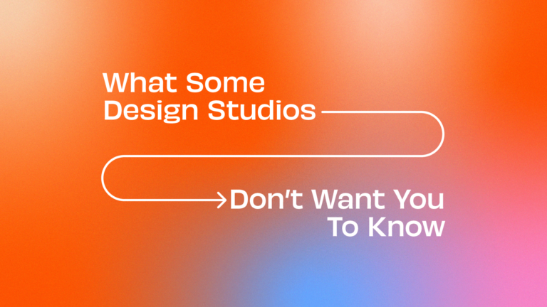 What some design studios don't want you to know